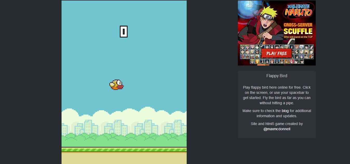 Flappy Bird на компьютер