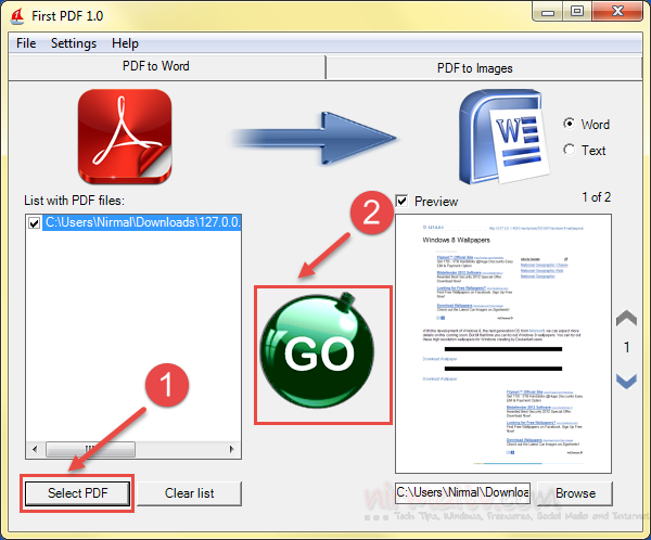 smart word to pdf converter