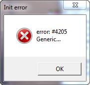 error 4205 generic Мафия