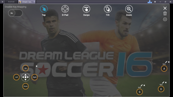 управление Dream League Soccer 2016 на PC