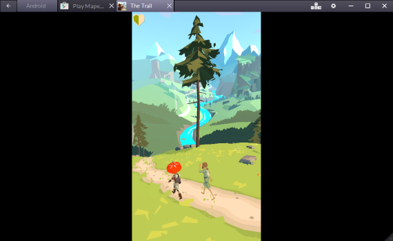 Тестим The Trail в BlueStacks