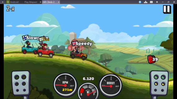 Hill Climb Racing 2 в BlueStacks