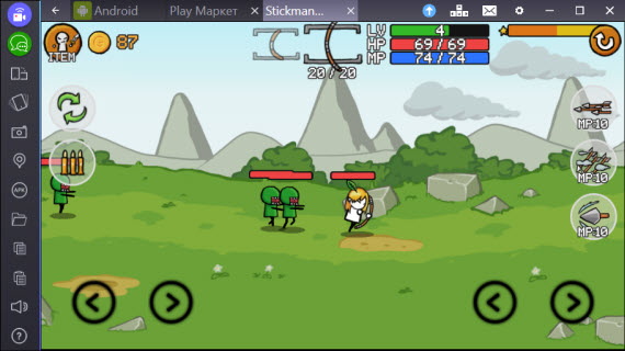 Stickman And Gun 2 в BlueStacks