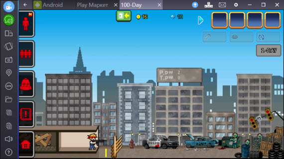 100 DAYS - Zombie Survival в BlueStacks