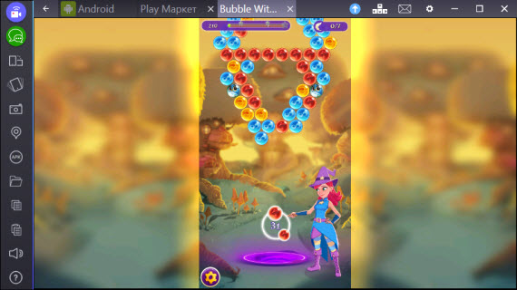 Bubble Witch 2,3 Saga в BlueStacks