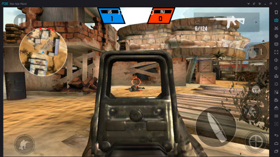 Bullet Force в Nox App Player