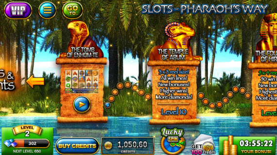 Slots - Pharaoh's Way уровни