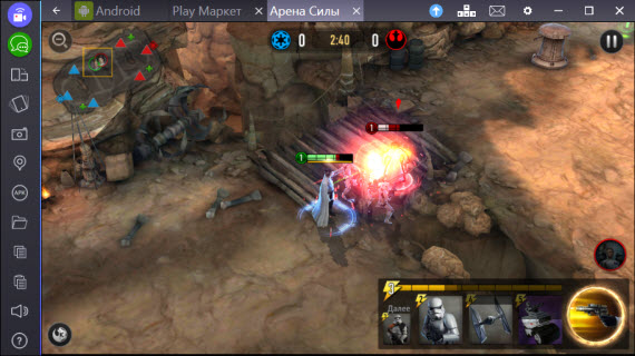 Star Wars Force Arena в BlueStacks