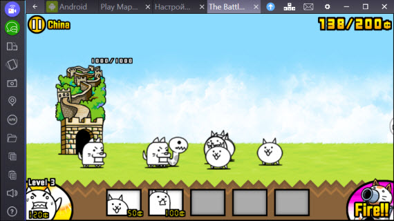The Battle Cats в BlueStacks2