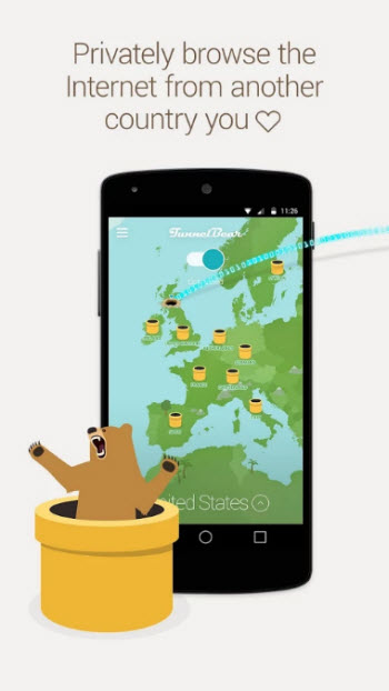 TunnelBear VPN_screen1